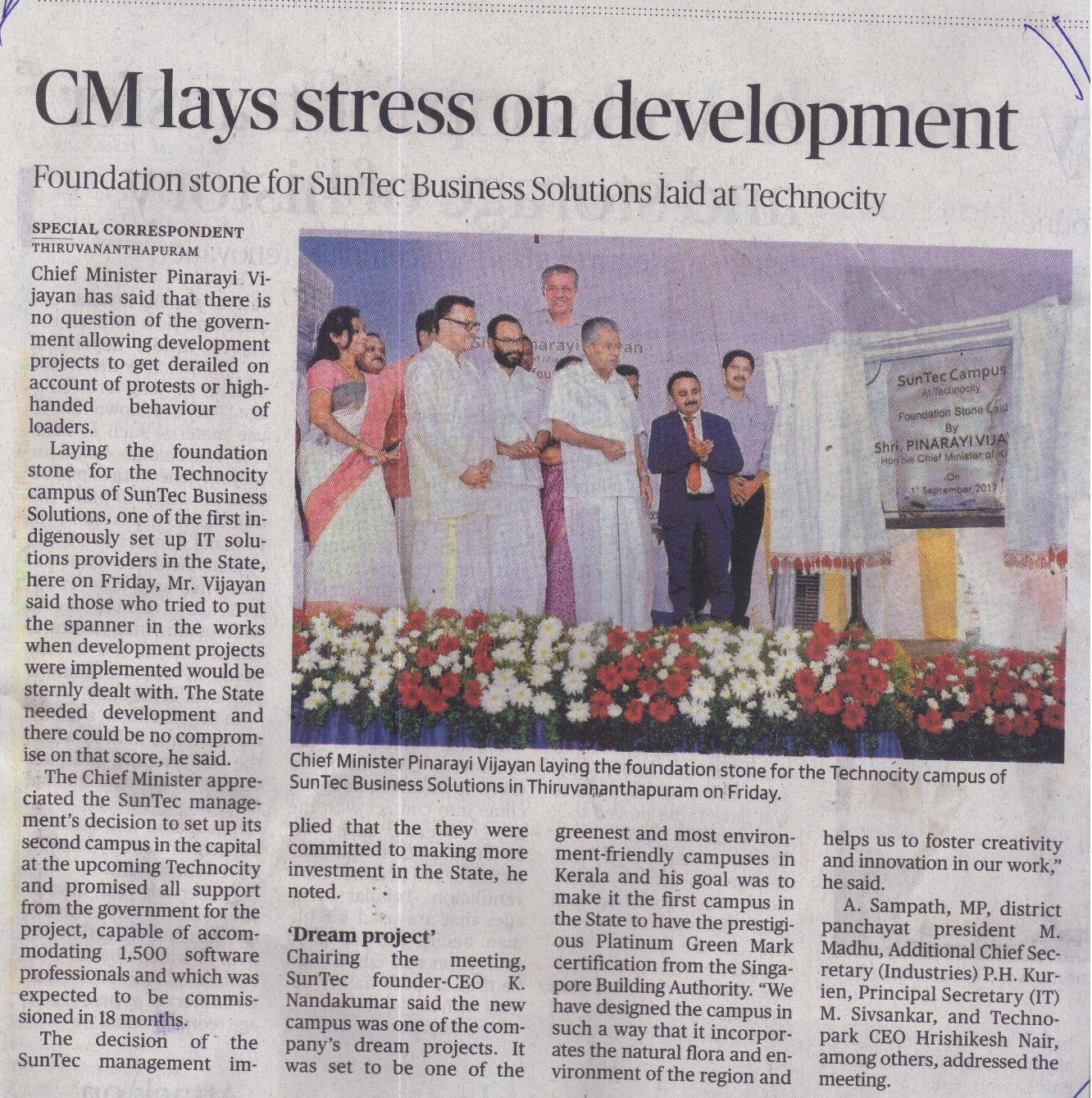 CM lays stress on development