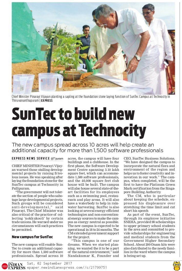 SunTec to build new campus at Technocity