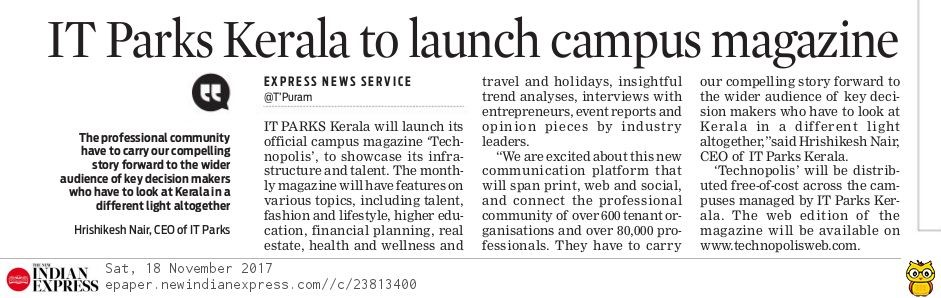 IT Parks Kerala to launch campus magazine